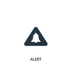 Alert icon simple element vector