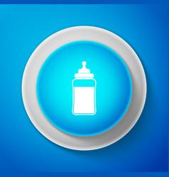babottle icon isolated on blue background vector image
