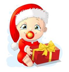 Baby santa vector