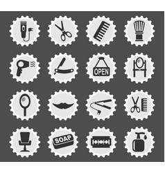 barbershop icon set vector image