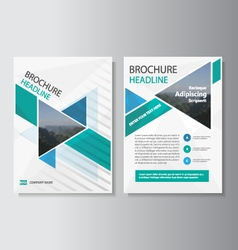 Blue Green annual report Leaflet Brochure template vector