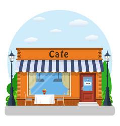 Cafe shop exterior vector