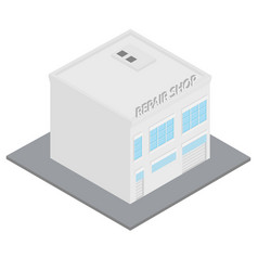car service building vector image