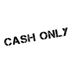 Cash Only rubber stamp vector