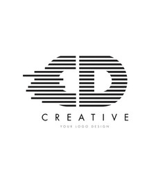 Cd c d zebra letter logo design with black and vector