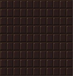 chocolate seamless dark handmade bio food vector image