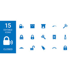 closed icons vector image