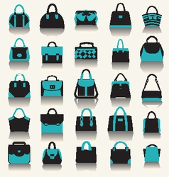Collection with Women handbags vector