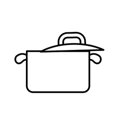 Cooking pot icon Food design graphic vector