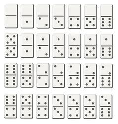 Creative of realistic domino vector