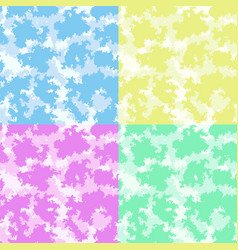 Cute baby room colorful clouds background set vector