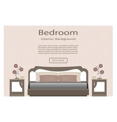 elegance bedroom interior banner for you design vector image