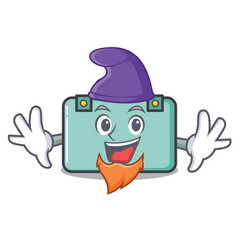 Elf suitcase character cartoon style vector