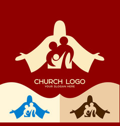 family in christ jesus vector image