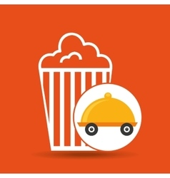 Fast delivery food pop corn vector