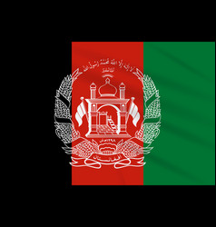 Flag afghanistan swaying in wind realistic vector