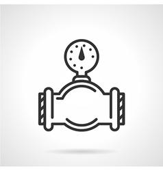 Flat line gauge icon vector image vector image