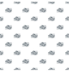 fresh beef pattern seamless vector image