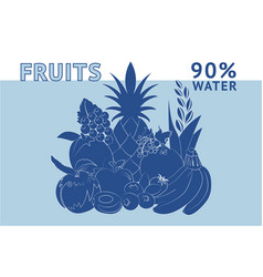 Fruits water vector