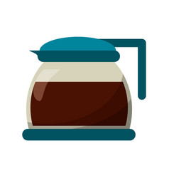 Glass pot with coffee image vector