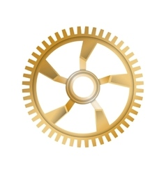 Gold Gear icon Machine part design vector