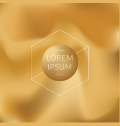 gold gradient background vector image