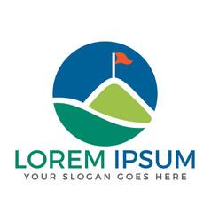 Golf club logo design vector