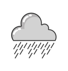 Grayscale natural cloud in the sky raining weather vector