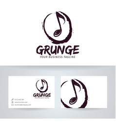 Grunge studio logo design vector