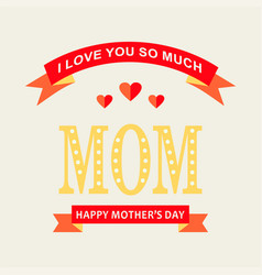 Happy mothers day with women and children design vector