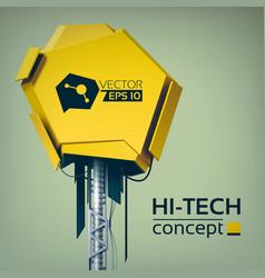hi-tech design concept vector image