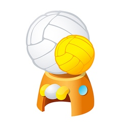 icon volleyball vector image