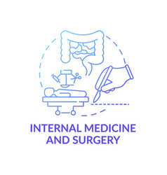 Internal medicine and surgery blue gradient vector