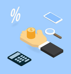 Investing in business isometric vector