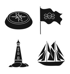 Journey and seafaring sign vector