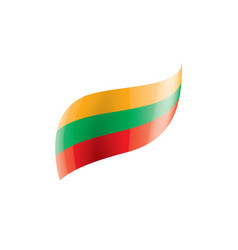 Lithuania flag on a white vector