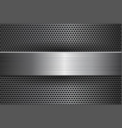 Metal background with perforation and brushed vector