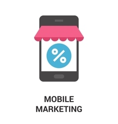 mobile marketing icon concept vector image