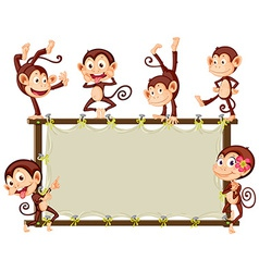 Monkey Banner vector image