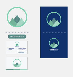 mountain creative logo premium vector image