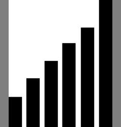 network signal icon signal bar icon vector image