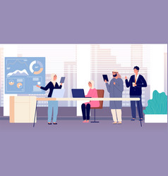 office team international business meeting vector image