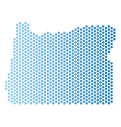 Oregon state map hex tile scheme vector