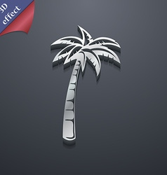 Palm icon symbol 3D style Trendy modern design vector image