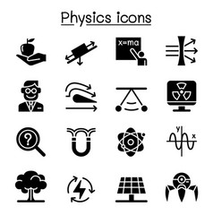 Physics icon set vector