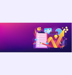 Project planning concept banner header vector