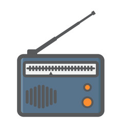 Radio colorful line icon fm and communication vector