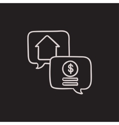 Real estate transaction sketch icon vector image