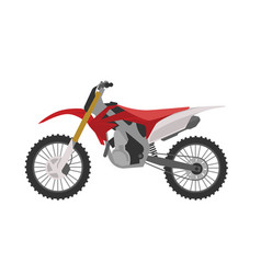 Red sport motocross motorbike vector