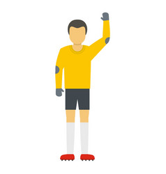 referee icon flat style vector image